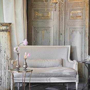 French Settee, French, living room, Aidan Gray Home