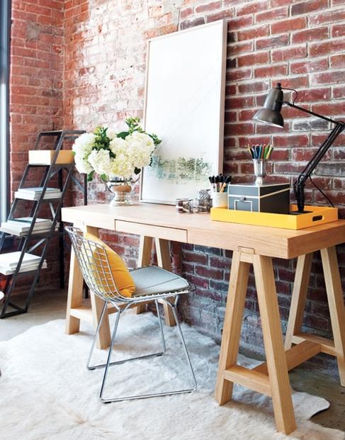 Glass Sawhorse Desks Design Ideas
