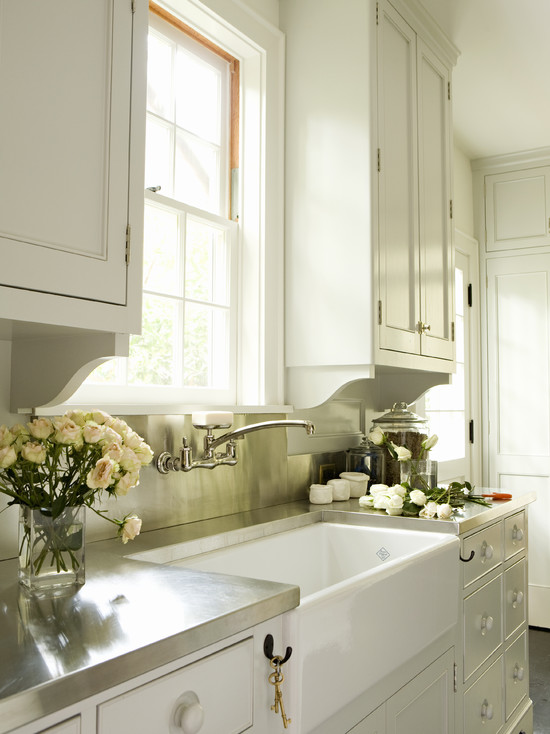 white kitchen cabinets stainless steel countertops white kitchen cabinets with stainless steel countertops 28932