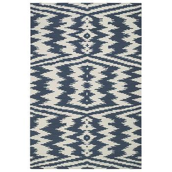 Capel Rugs Junction Blue Wool Rug