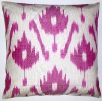 IKT078 silk/cotton ikat pillow cover