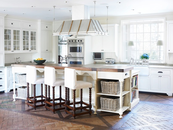 Beautiful Kitchen With White Kitchen Cabinets White Kitchen Island
