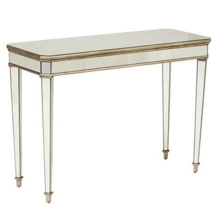 X Mirrored Console Table - Look 4 Less and Steals and Deals.