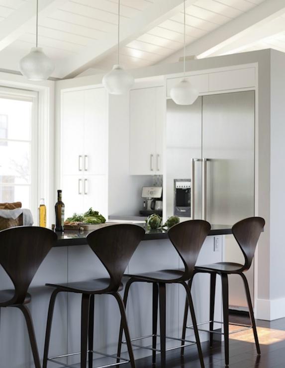 Cherner Bar Stools Modern Kitchen Reed Davis Photography
