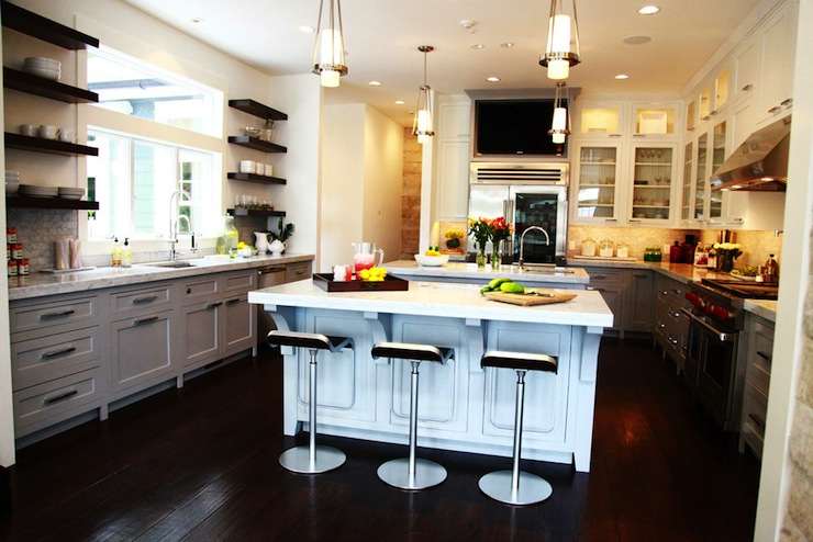 Beau Light Gray Kitchen Cabinets