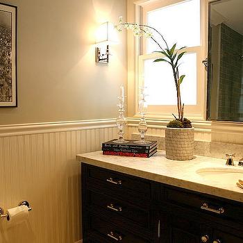 Beadboard Bathroom Vanity Design Ideas