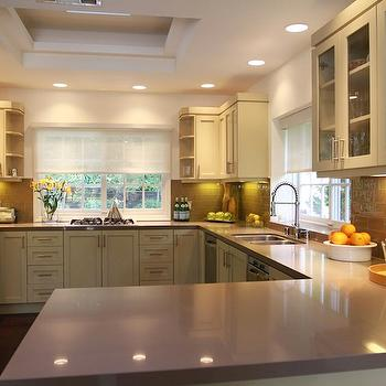 Grey Countertops, Contemporary, kitchen, Jeff Lewis Design