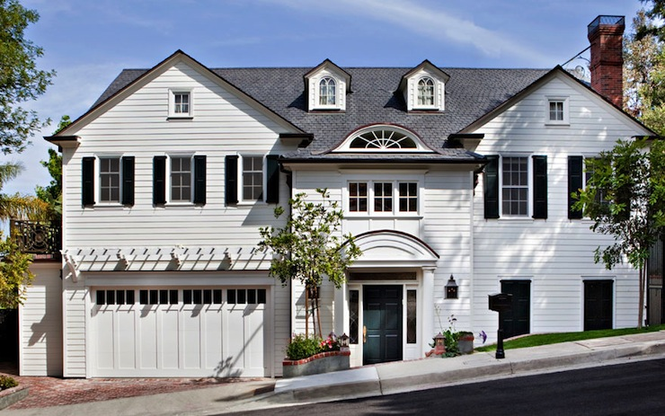 Colonial home design ideas for Colonial garage