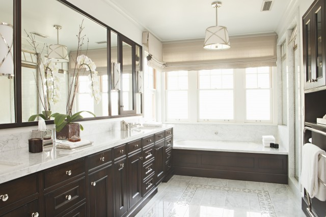 Elegant master bathroom traditional bathroom tim barber for Elegant master bathroom ideas