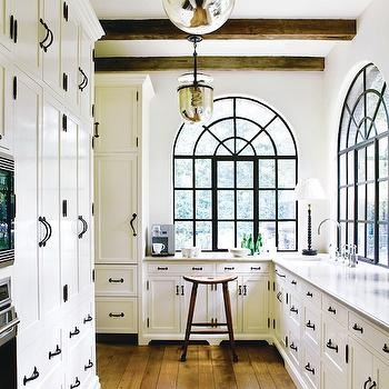 White Kitchen Cabinets with Oil-Rubbed bronze Hardware, Transitional, kitchen, Atlanta Homes & Lifestyles