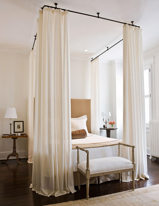 Iron Bed Canopy, Transitional, bedroom, Paul Corrie Interiors
