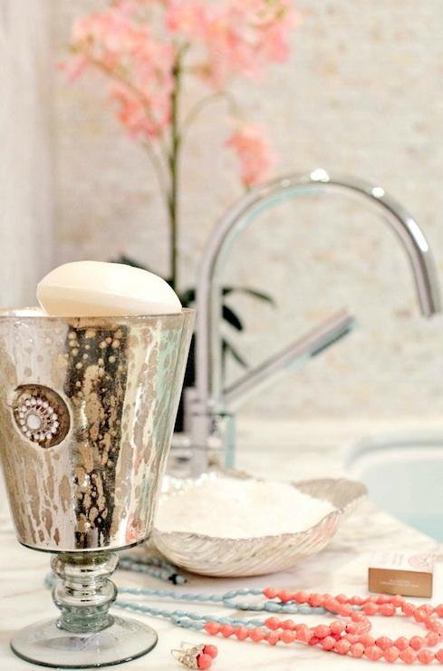 Mercury glass bathroom accessories Antique Glass Mercury Glass Bathroom Accessories Decorpad Mercury Glass Bathroom Accessories Contemporary Bathroom