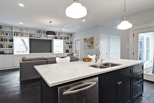 Benjamin Moore Moonshine Contemporary Kitchen