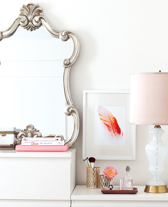silver vanity mirror contemporary bedroom samantha pynn. Black Bedroom Furniture Sets. Home Design Ideas