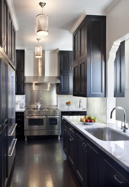 Black Kitchen Cabinets Contemporary Kitchen Thompson