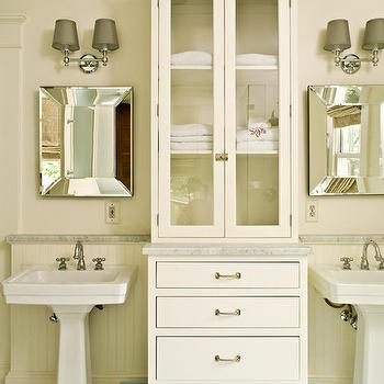 his and her pedestal sinks design ideas - Pedestal Sink Bathroom Design Ideas