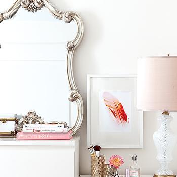 Silver Vanity Mirror, Contemporary, bedroom, Samantha Pynn