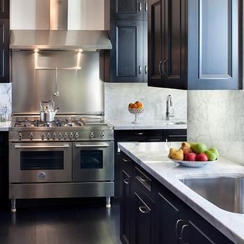 Black Countertops And White Cabinets Transitional