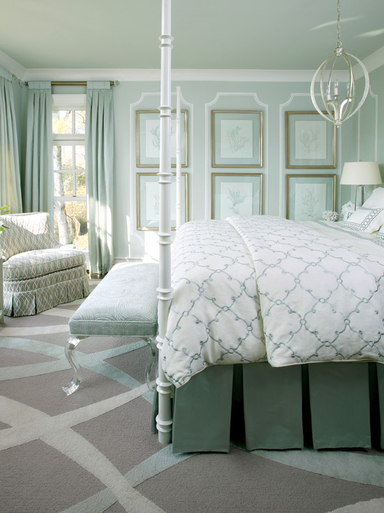Attractive View Full Size. Chic Bedroom With Gray Walls And Seafoam Green ... Awesome Ideas