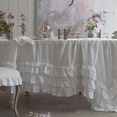 rachel ashwell shabby chic couture white petticoat tablecloth. Black Bedroom Furniture Sets. Home Design Ideas