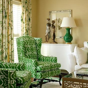Green Wingback Chair
