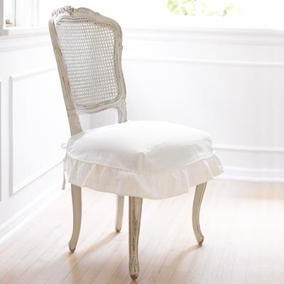 Rachel Ashwell Shabby Chic Couture Darcy Chair with Oyster Linen Slip