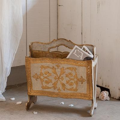rachel ashwell shabby chic couture florentine magazine holder. Black Bedroom Furniture Sets. Home Design Ideas