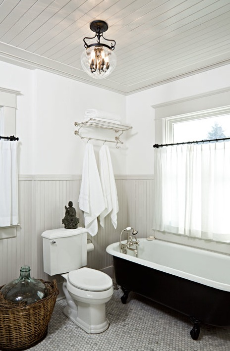 Gray Beadboard Cottage Bathroom Jessica Helgerson