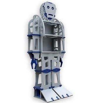 Atomic Playrooms ATLAS Robot Bookshelf, Style # ATLAS, Modern bookcases, contemporary bookcases, books shelves at SWITCHmodern.com