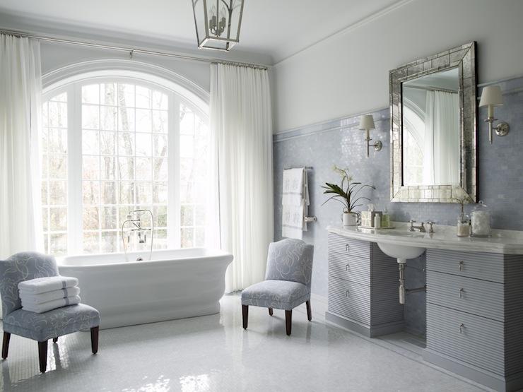 Blue Bathroom Traditional Bathroom Phoebe Howard