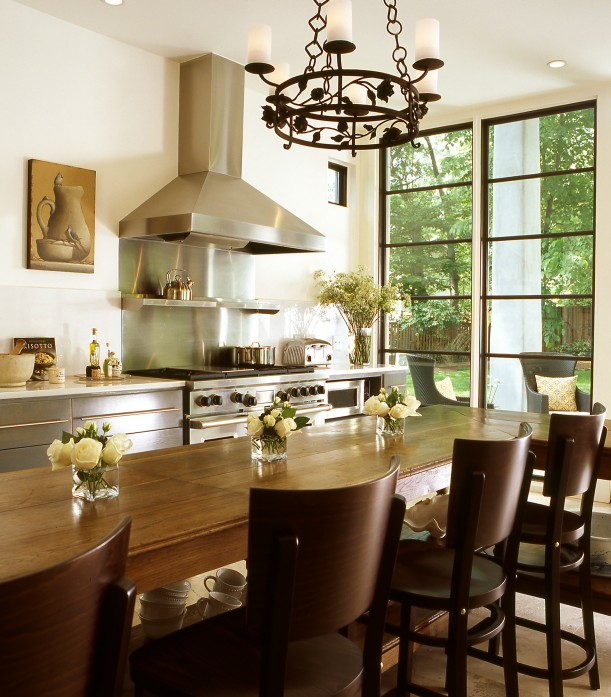 Kitchen Island Dining Table Eclectic Kitchen The