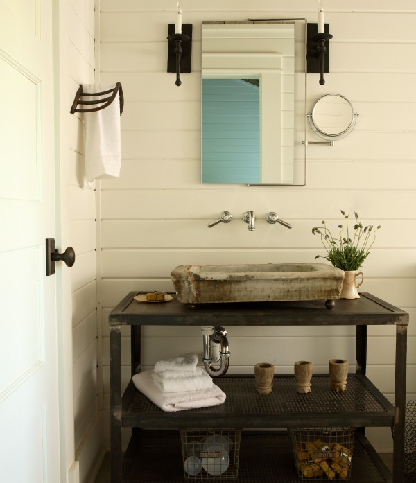 Industrial Vanity: Industrial Floating Sink Vanity Design Ideas