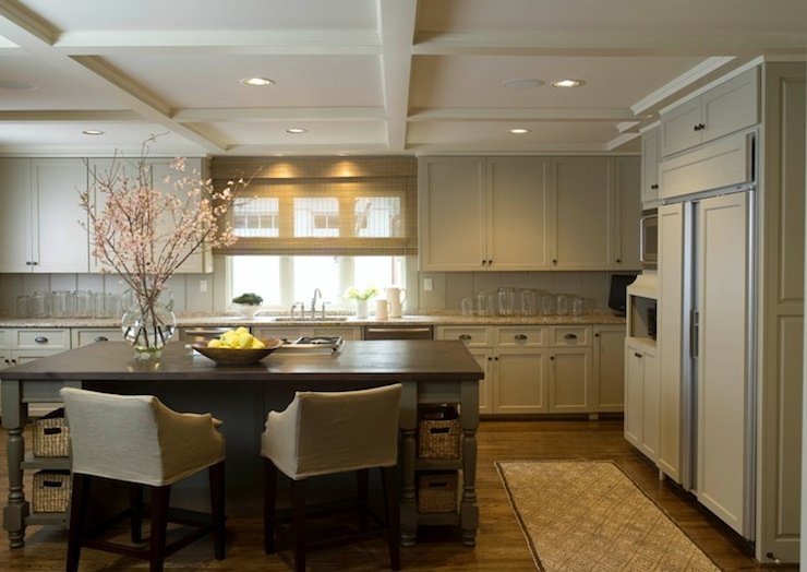 Tan Kitchen Cabinets Transitional Kitchen Phoebe Howard