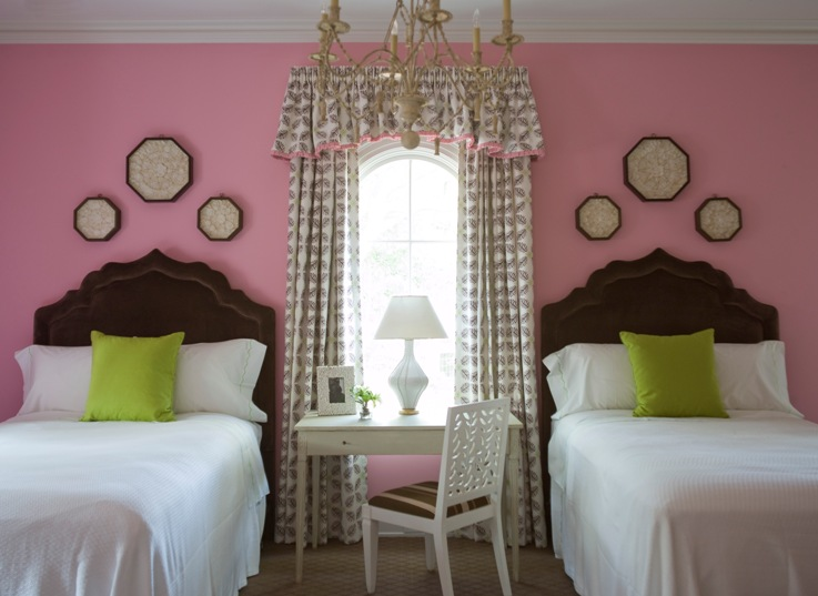 Pink and brown girls room transitional girl 39 s room for Brown and pink bedroom ideas for a girl