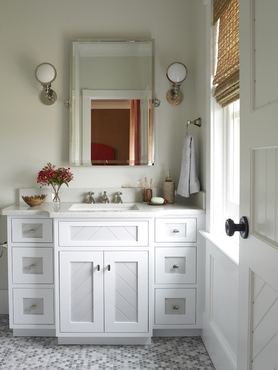 two tone bathroom cabinets two tone vanity contemporary bathroom phoebe howard 27385