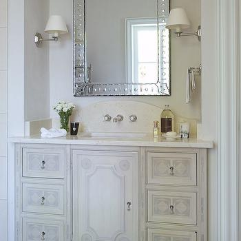White French Bathroom Sconces Design Ideas