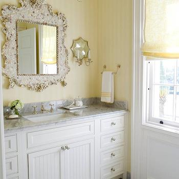 White Beadboard Cabinets, Cottage, bedroom, Phoebe Howard