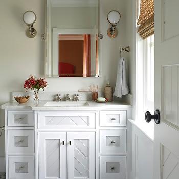 Two Tone Vanity, Contemporary, bathroom, Phoebe Howard