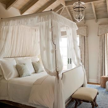 Upholstered Headboard and Footboard, Cottage, bedroom, Phoebe Howard