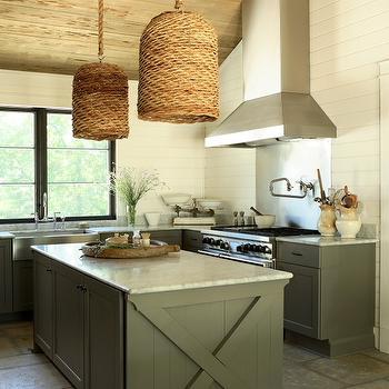 X Kitchen Island, Cottage, kitchen, The Iron Gate