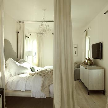 Ceiling Bed Canopy, Transitional, bedroom, The Iron Gate