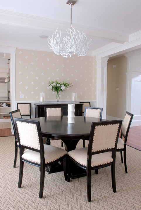 White coral chandelier transitional dining room mabley handler white coral chandelier aloadofball Gallery