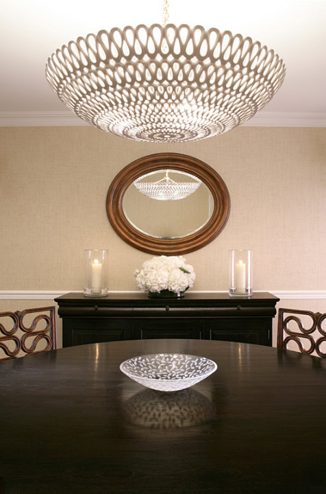 Oly Studio Pipa Bowl Chandelier Contemporary Dining