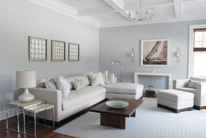 Light Colored Living Rooms Simple Light Gray Sectional  Contemporary  Living Room  Mabley Handler Decorating Design