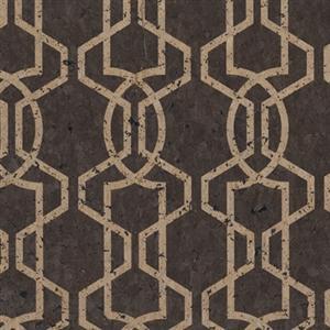 silhouette cork effect wallpaper in brown york