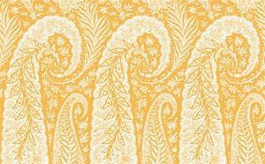 Lattice Wallpaper in Whites and Yellows from the Dolce Vita Collection by Antonina Vella, Seabrook Designs