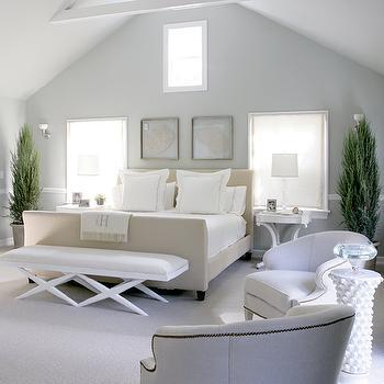 Upholstered Headboard and Footboard, Cottage, bedroom, Mabley Handler