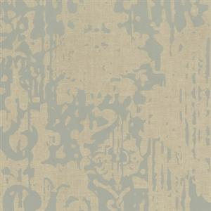 Majestic Wallpaper in Slate Blue and Beige by York