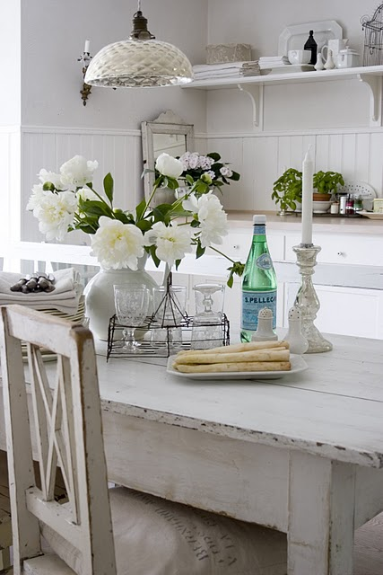 whitewashed dining table design ideas