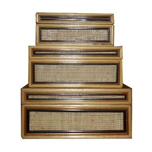 Vintage Bamboo Nesting Boxes